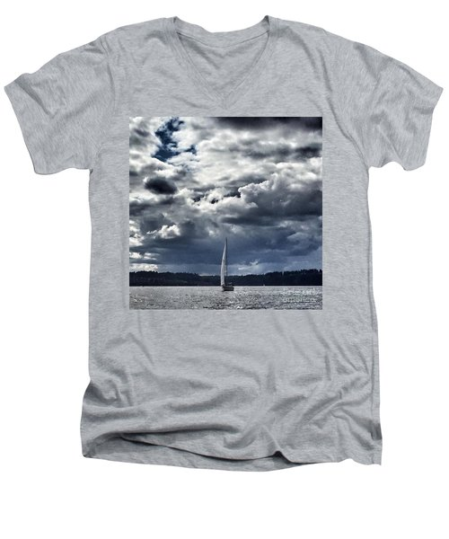 Sailing Puget Sound Men's V-Neck T-Shirt