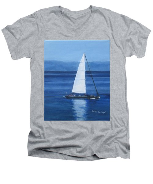Sailing The Blues Men's V-Neck T-Shirt