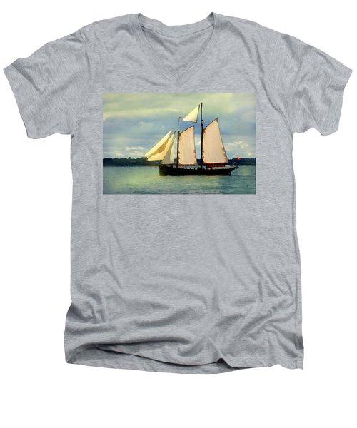 Sailing The Sunny Sea Men's V-Neck T-Shirt