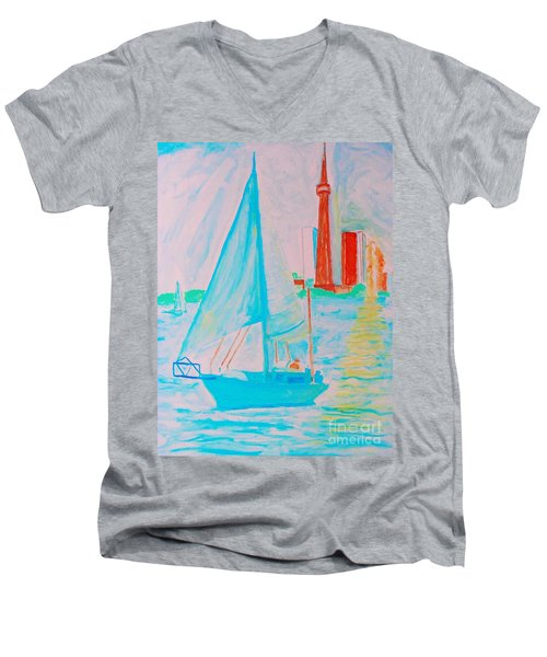 Sailing Toronto, Canada Men's V-Neck T-Shirt