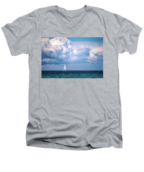 Sailing Under The Clouds Men's V-Neck T-Shirt