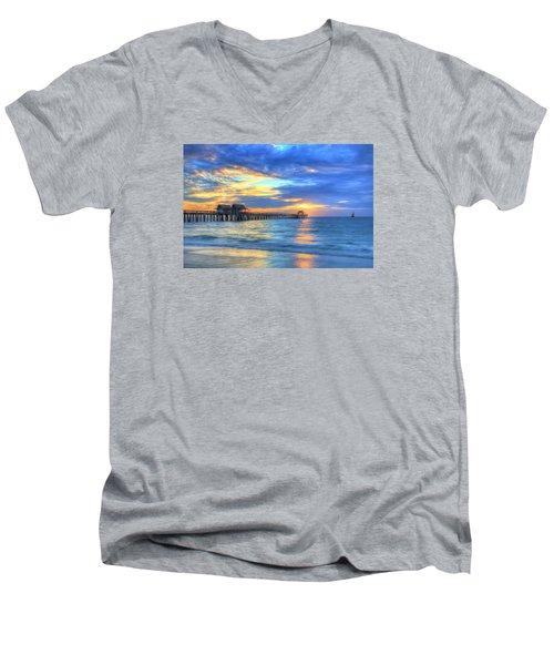 Men's V-Neck T-Shirt featuring the digital art Sailor's Delight by Sharon Batdorf