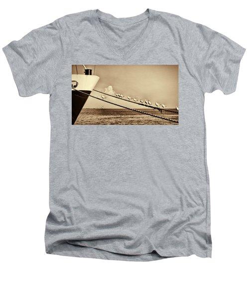 Sailors V2 Men's V-Neck T-Shirt by Douglas Barnard
