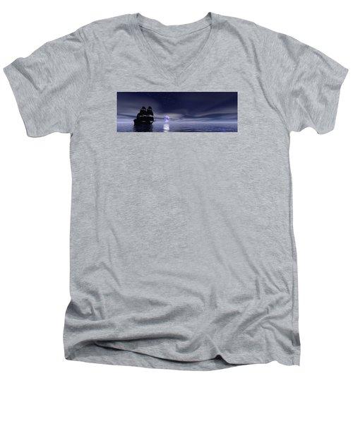 Sails Beneath The Moon Men's V-Neck T-Shirt
