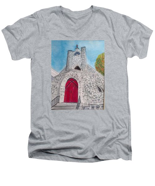 Saint James Episcopal Church Men's V-Neck T-Shirt