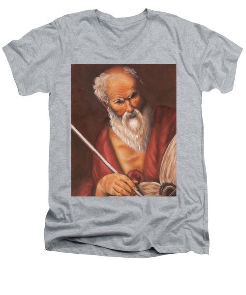 Saint Jerome Men's V-Neck T-Shirt