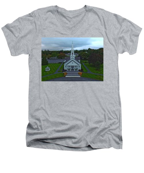 Saint Mary's Church From Above Men's V-Neck T-Shirt