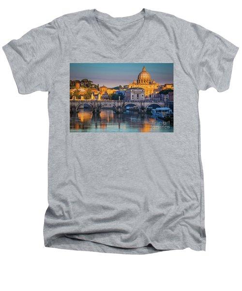 Saint Peters Basilica Men's V-Neck T-Shirt