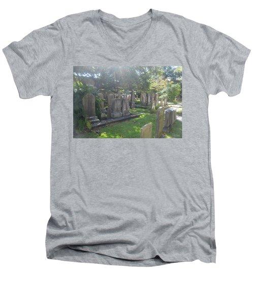 Saint Phillips Cemetery 4 Men's V-Neck T-Shirt by Gordon Mooneyhan