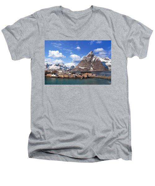 Sakrisoy Men's V-Neck T-Shirt by Alex Conu