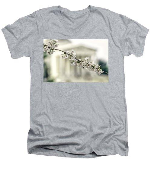 Sakura At The Basin Men's V-Neck T-Shirt