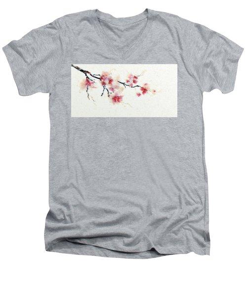 Sakura Branch Men's V-Neck T-Shirt