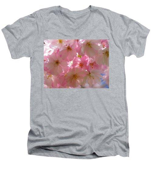 Sakura - Japanese Cherry Blossom Men's V-Neck T-Shirt