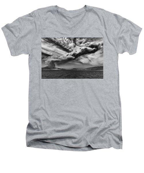 Sakurajima Volcano Men's V-Neck T-Shirt