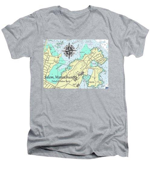 Salem Neck Men's V-Neck T-Shirt