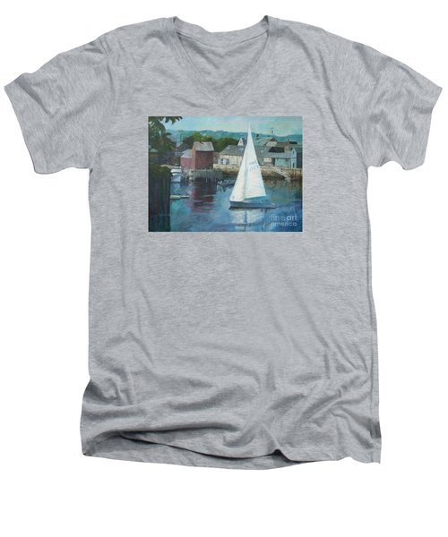 Saling In Rockport Ma Men's V-Neck T-Shirt