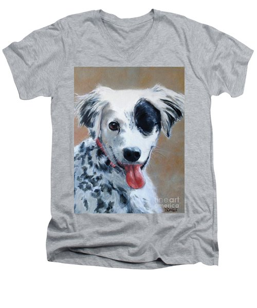 Men's V-Neck T-Shirt featuring the painting Sally by Diane Daigle