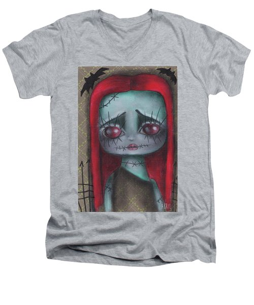 Sally Girl Men's V-Neck T-Shirt by Abril Andrade Griffith