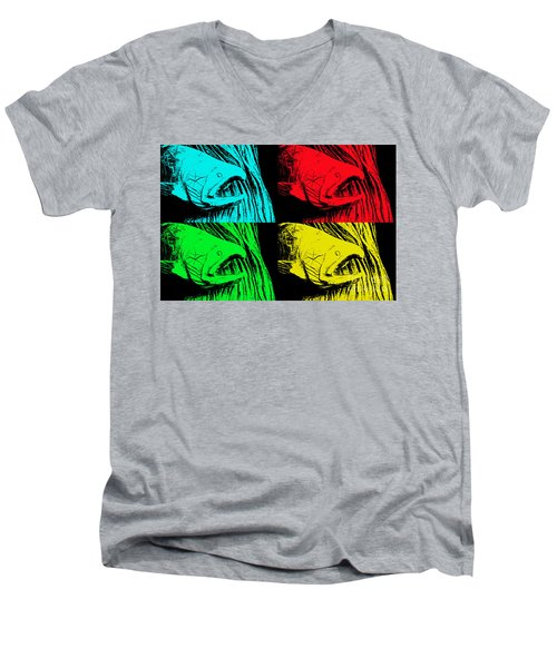 Salmon Pops Men's V-Neck T-Shirt