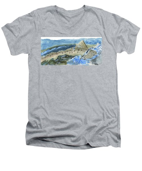 Salmon Surface Men's V-Neck T-Shirt