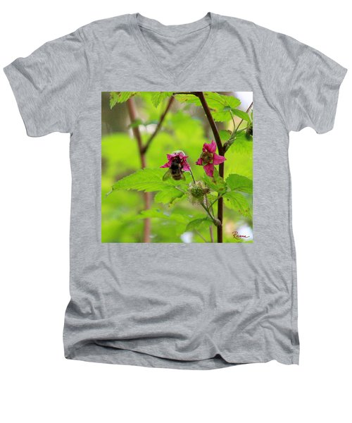 Salmonberry Honey Men's V-Neck T-Shirt