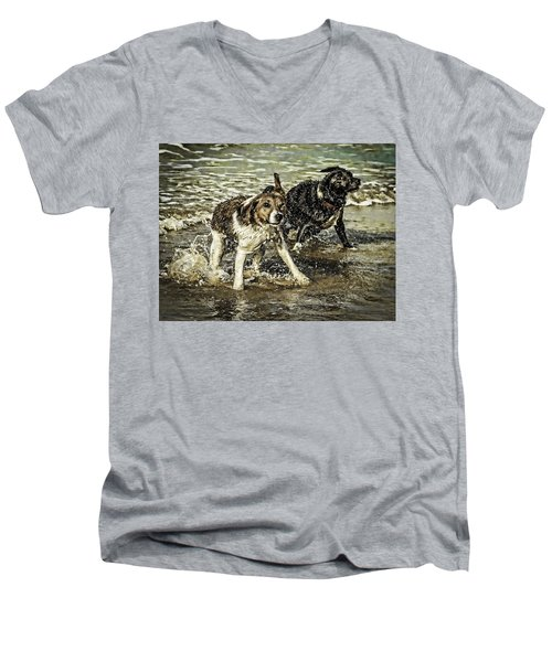 Men's V-Neck T-Shirt featuring the photograph Salt And Shake by Nick Bywater