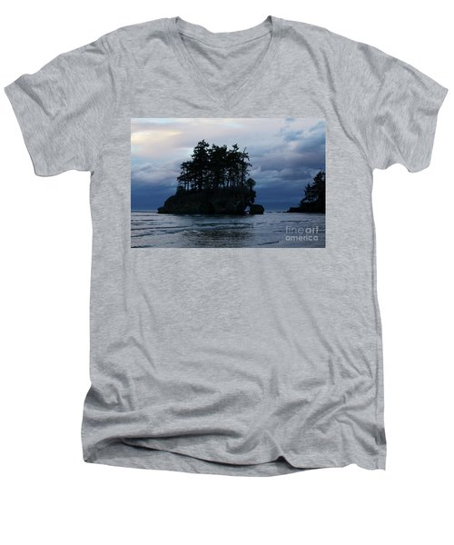 Men's V-Neck T-Shirt featuring the photograph Salt Creek At Sunset by Jane Eleanor Nicholas