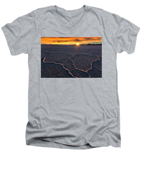 Salt Flats Sunset Men's V-Neck T-Shirt