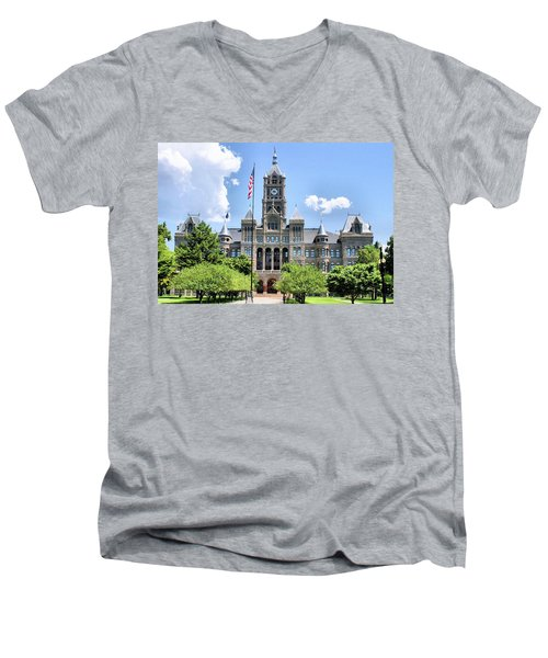 Salt Lake City County Building Men's V-Neck T-Shirt