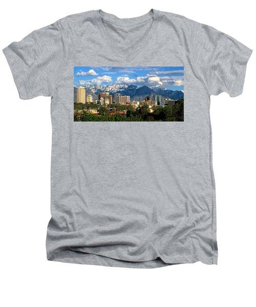 Salt Lake City Men's V-Neck T-Shirt