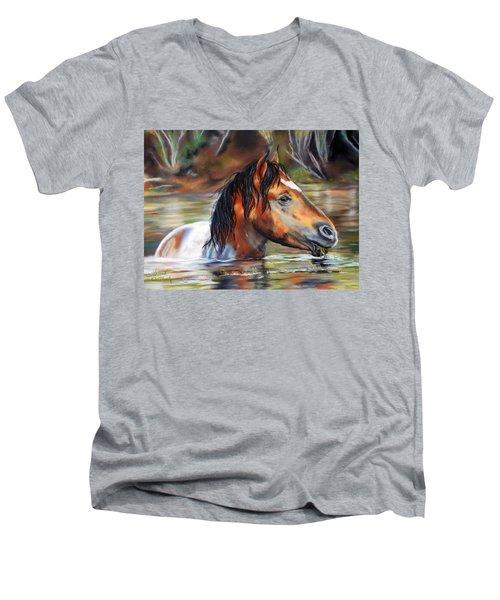Salt River Tango Men's V-Neck T-Shirt by Karen Kennedy Chatham