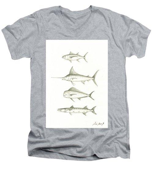 Saltwater Gamefishes Men's V-Neck T-Shirt