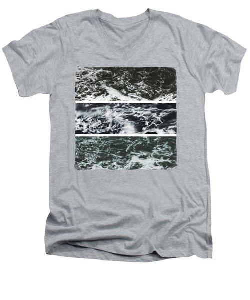 Saltwater Triptych Variation 3 Men's V-Neck T-Shirt