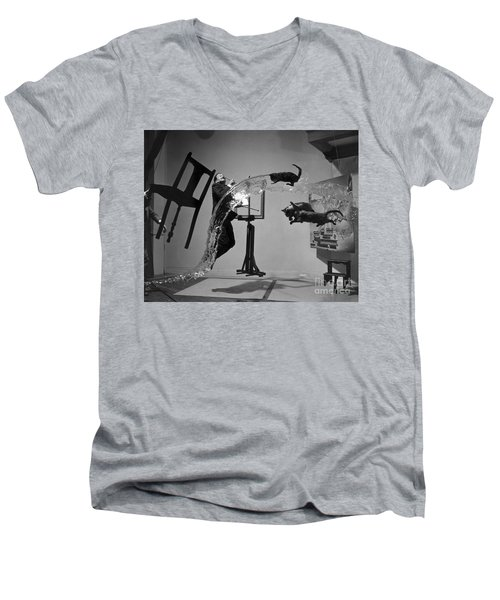 Salvador Dali 1904-1989 Men's V-Neck T-Shirt by Granger
