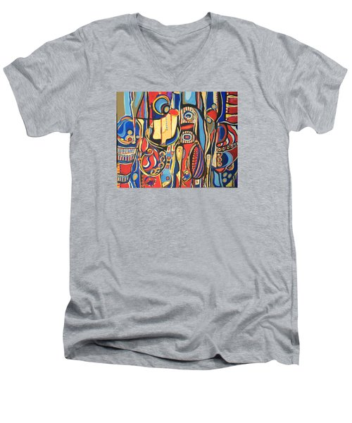 Salvaje # 8 Men's V-Neck T-Shirt