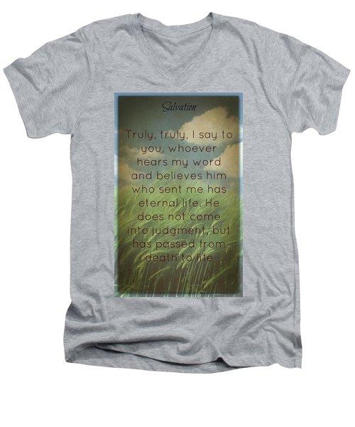 Salvation 454 Men's V-Neck T-Shirt