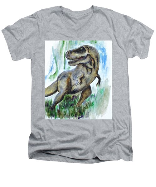 Salvatori Dinosaur Men's V-Neck T-Shirt