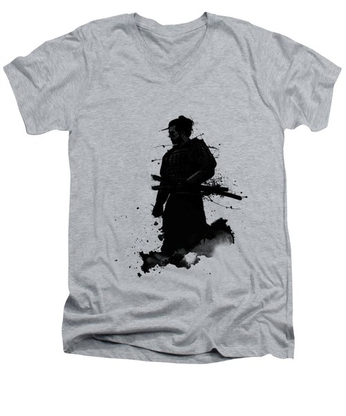 Samurai Men's V-Neck T-Shirt by Nicklas Gustafsson