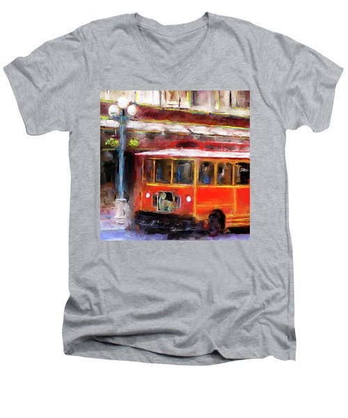 San Antonio 5 Oclock Trolley Men's V-Neck T-Shirt