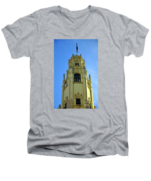 San Antonio Building 4 Men's V-Neck T-Shirt