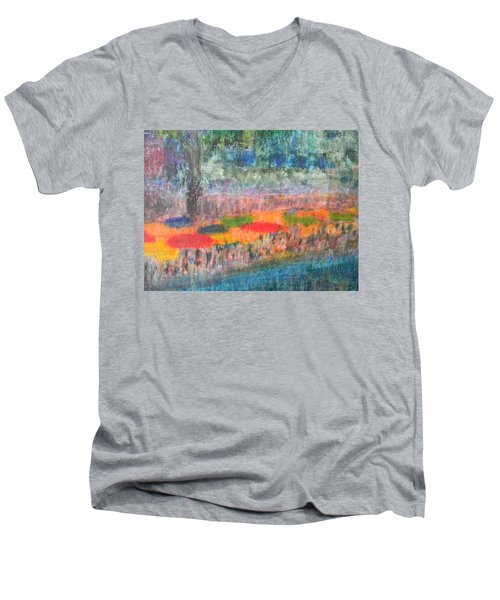 San Antonio By The River II Men's V-Neck T-Shirt