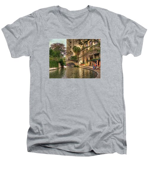 San Antonio Riverwalk Men's V-Neck T-Shirt