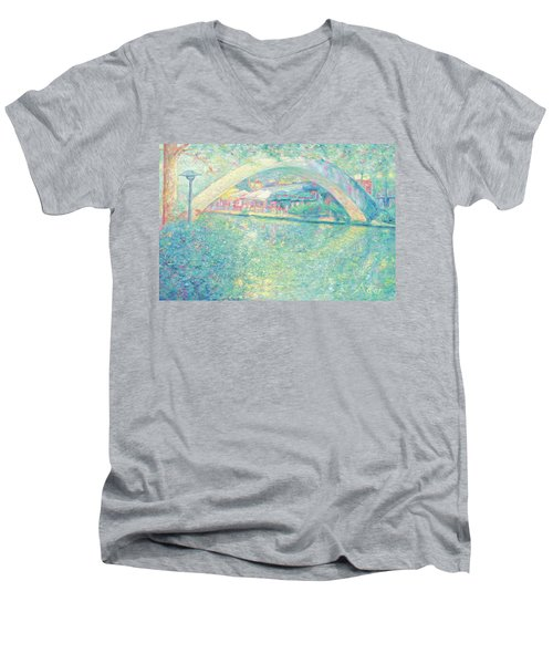 San Antonio Riverwalk Men's V-Neck T-Shirt by Felipe Adan Lerma