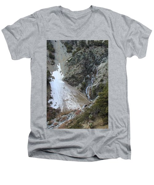 Men's V-Neck T-Shirt featuring the photograph San Antonio Waterfalls by Viktor Savchenko