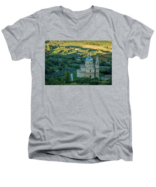 Men's V-Neck T-Shirt featuring the photograph San Biagio Church by Brian Jannsen