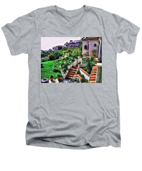 San Clemente Estate Backyard Men's V-Neck T-Shirt