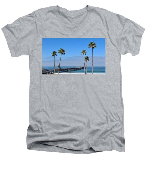 San Clemente Pier Men's V-Neck T-Shirt