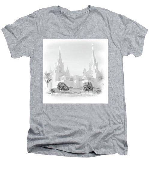 San Diego Lds Temple Men's V-Neck T-Shirt