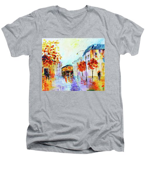 San Fran Men's V-Neck T-Shirt