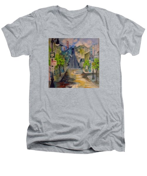 San Fran Street Men's V-Neck T-Shirt